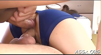 Awesome japanese assfuck toying
