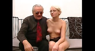 Old pig introduce a mature blonde who'_s about to get fucked