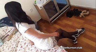Chinese Zhang from Asianhunter.club Gives Footjob in Nylons