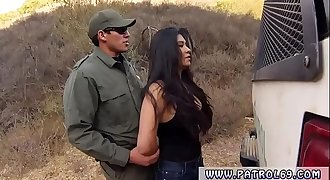 Big booty police and fake cop blowjob Stunning Mexican floozie