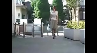 Japanese Cougar Stalked and Pleased - Watch Part2 on porn4us.org